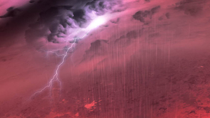 What a brown dwarf storm might look like. The clouds are made of magnesium, silicon and aluminum, with rain showers of sand and liquid iron. The layered clouds would have a purple or magenta glow to the human eye, with most of the dwarf's light shining in the invisible infrared. (Image: NASA/JPL-Caltech/University of Western Ontario/Stony Brook University)