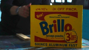 """""""Lot 10,"""" a retake on the Brillo Box by artist Charles Lutz, inspired by the path of the Skyler Brillo Box (Brillo trademark used with permission of Armaly Brands Inc.; photo courtesy of HBO)"""
