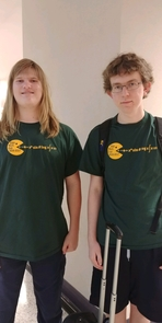 Sam Merson and Walker Kroubalkian are two of six University High School students studying vector calculus at the UA this year.