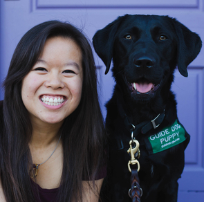 Chew's family won't be accompanying her to Washington, D.C., but she will be joined by Dobby, a 15-month-old guide dog puppy she is training.