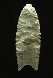 Example of a Clovis fluted blade. (Image courtesy of the Arizona State Museum)