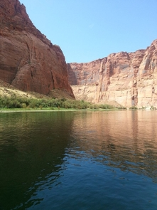 The U.S. Bureau of Reclamation estimates annual natural upper Colorado River flow based on data recorded from streamgages at Lees Ferry. At that location, Colorado River streamflow reflects water that has drained from the upper basin, which includes Colorado, Wyoming, Utah and New Mexico. (Photo: U.S. Geological Survey)
