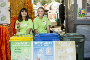 The UA Compost Cats help TMY divert nearly 50 percent of waste from the landfill through recycling and compost. (Photo: Steven Meckler)