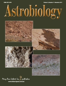 The research project was featured on the cover of the journal Astrobiology.
