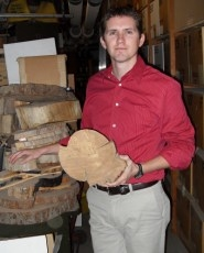Pearce Paul Creasman was hired this year as the first collections curator for the Laboratory of Tree-Ring Research