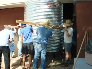 Installation of cisterns at UA Visitor Center.