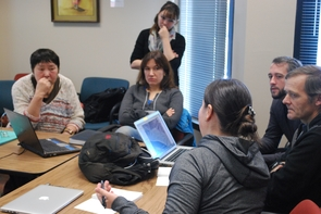 The team met with Kamchatka community members and Google Earth Outreach during a workshop held on the UA campus in the fall to discuss how to structure collected data and what mapping tools to use. (Photo: Benedict Colombi)