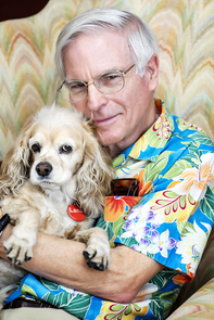 David Soren with his faithful canine companion, Lana (Photo: John de Dios/UANews)