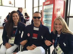 Tennis players Dana Mathewson, Bryan Barten and Kaitlyn Verfuerth in Rio. The Paralympics kicked off last Wednesday and will continue through Sept. 18.