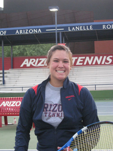 Honors student Dana Mathewson is on her way to South Africa to represent the U.S. in the World Team Cup wheelchair tennis competition.
