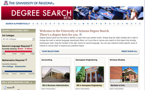 "In assessing the need for what resulted in Degree Search, students and advisers still report valuing one-on-one time. ""However, the goal of this is to make more information available to both students and advisers so that their relationship can become more than nuts and bolts and approving degree programs, but can now allow for more time to talk about different majors, potential career opportunities, internships and generally be a deeper relationship,"" UA Vice President for Student Affairs Melissa Vito said."
