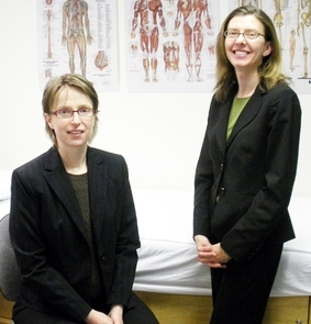 Neurologists Katalin Scherer and Holli Horak, both UA associate professors of neurology.