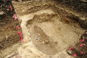 Early burial at Ciebal, about 500 B.C. (Photo: Takeshi Inomata)
