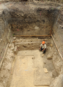 Early residence of an elite dweller at Ceibal, about 750 B.C. (Photo: Takeshi Inomata)