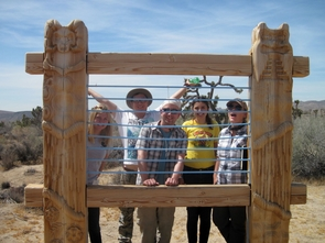 Class members visit the High Desert Test Sites near Joshua Tree National Park in California. (Photo: Wei Qi)