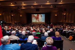 Centennial Hall on the UA campus was packed to capacity for the kickoff of the annual College of Science Lecture Series. (Photo: John de Dios/UANews)