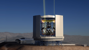 Once completed atop El Cerro Campanas in Chile's Atacama Desert, the Giant Magellan Telescope will use its higher-than-Hubble resolution power to solve some of the most pressing astronomical questions, including the search for planets that might harbor life. (Artist's illustration by GMTO)
