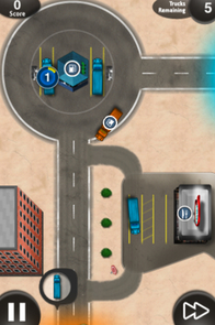"""The UA group's new app is """"Highway King."""" James Magahern said """"Highway King"""" was loosely modeled after other iPhone games such as """"Flight Control"""" and """"Harbor Master"""" apps. """"We thought the additional physical constraints we would provide a series of much more challenging tasks for the player to accomplish."""" (Photo courtesy of Objective Coders LLC)"""