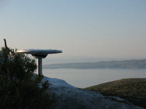 This photo shows one of the new continuously operating GPS stations located on the Dalmatian island of Hvar. Using a network of such antennas, UA geoscientists and their colleagues track the movement of parts of the Croatians coast relative to one another. (Richard A. Bennett)