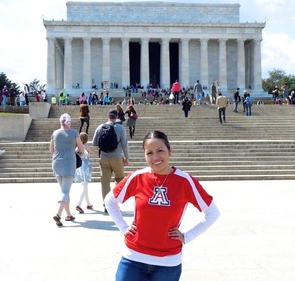 Beatriz Greeno had a chance to visit Washington, D.C. earlier in the year.