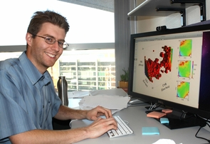 A physicist by training, UA assistant professor Ryan Gutenkunst became fascinated with evolutionary questions. The software he developed allows researchers to put dates on events such as humans migrating out of Africa. (Photo by D. Stolte/UANews)