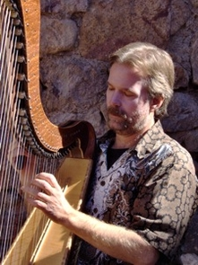 "Harpist David Pavlovich said he believes that ""when music can bring relief and comfort to those in need, it reaches its maximum potential for good and its highest purpose."" (Photo courtesy of David Pavlovich)"