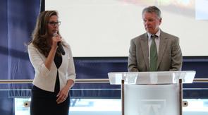 Katina Koller and David Allen address the audience. (Photo credit: Paul Tumarkin/Tech Launch Arizona)