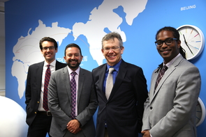 From left: Jordan Lancaster, Rajesh Khanna, Richard Austin and John Jackson. (Photo: Paul Tumarkin/Tech Launch Arizona)