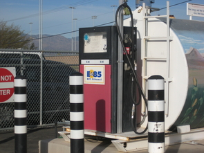 (Click to enlarge) Much of the University Motor Pool runs on E-85 fuel.