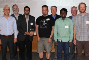 The Codelucida team receives the award for Startup of the Year. (Photo: Paul Tumarkin/Tech Launch Arizona)