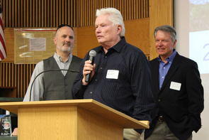 Fletcher McCusker receives the award for Ecosystem Impact. (Photo: Paul Tumarkin/Tech Launch Arizona)