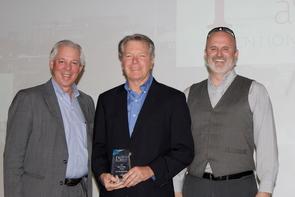 From left: UA President Robert C. Robbins, David Allen and Doug Hockstad (Photo: Paul Tumarkin/Tech Launch Arizona)