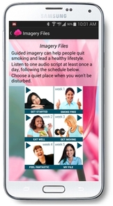 The See Me Smoke Free app uses guided imagery to help women quit smoking, eat well and get moving.