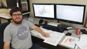 UA engineering student Jacob Gold is writing computer code that will help make contact with the spacecraft.