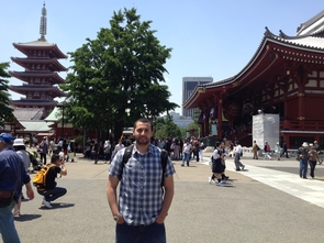 Amer Taleb in Japan, as part of the Roy Howard Fellowship where he visited with members of the Wall Street Journal and the Associated Press. (Photo courtesy of Amer Taleb)