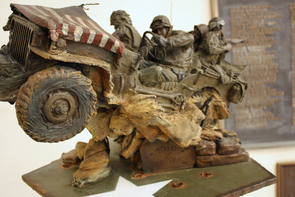 "Much of the artwork in the rotunda, including this ""Band of Brothers"" sculpture, was created by Sedona artist James Muir."