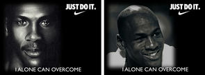 The study compared Nike ads featuring Michael Jordan, who was deemed more cool when he was smiling than when he was not. People also responded by liking the Nike brand better when the ad featured Jordan with a smile.