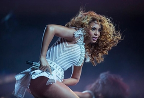 Artists such as Beyoncé (above) and Nicki Minaj have adopted futuristic themes in their music and attire, contributing to the Afrofuturism movement. (Photo credit: Yosra El-Essawy via PRNewsFoto/Live Nation Entertainment)