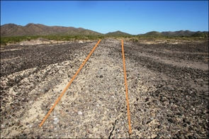 Watson said early farmers used the steep slope of the La Playa site, located in northern Sonora, to create constant water flow through an extensive irrigation network, which contributed too much of the soil deposition from 4,500 years ago to about 2,000 years ago. (Photo courtesy of James Watson)