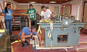 Fewer than 2,000 Vandercook presses are believed to be in operation. With the recent donation from the Jack Sinclair estate, the UA now has four of these presses. (Photo courtesy of Karen Zimmerman)