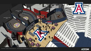 """""""We can't thank Cole and Jeannie enough for their generosity and support of Arizona Athletics. Their commitment to our programs is admirable and their contributions have gone a long way in providing our student-athletes with the best possible experience,"""" said Greg Byrne, director of athletics. (Image courtesy of Arizona Athletics)"""