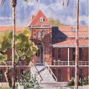 Some service awards will feature this rendering of Old Main by local artist Diana Madaras.