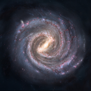 Artist's conception of the Milky Way galaxy (Credit: Nick Risinger/Public Domain)