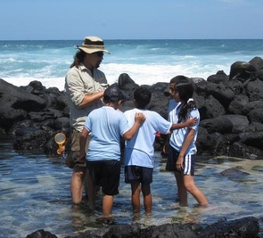 (Click to enlarge) Aaron Miller was among the local educators to receive a scholarship through the UA to study and research in the Galápagos Islands. (Credit: Katrina Mangin)