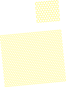 When a sheet of graphene sits atop a sheet of boron nitride at an angle, a secondary hexagonal pattern emerges that determines how electrons flow across the sample. (Illustration by Brian LeRoy)