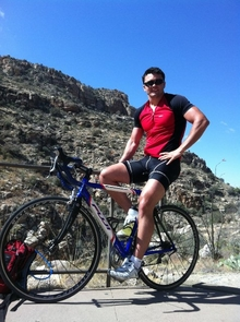UA alumnus Justin Mauser is scheduled to fly to Maine Aug. 24 in preparation for a cross-country bicycle ride, during which time he plans to raise $3,000 for the Make-A-Wish Foundation. Mauser, who earned his UA degree in May, expects the trip from Maine to Arizona will take two months with most of his time spent on rural roads and away from major cities. (Photo credit: Krista Bolin)