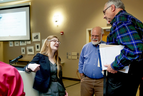 During her visit, Singer met with UA faculty members, learning ways that they are adopting active-learning strategies to improve student retention and success in STEM. (Photo: John de Dios/UANews)
