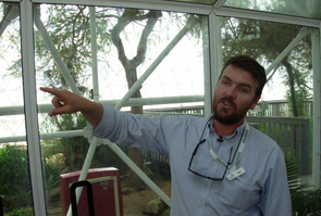 (Click to enlarge) Nate Allen, sustainability coordinator at Biosphere 2, said the facility has cut energy use dramatically in recent years.
