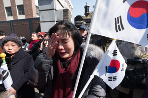 Kim Newton captured the emotions of South Koreans after a court this month upheld the impeachment of President Park Geun-hye. (Photo: Kim Newton)