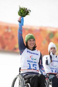 Nichols, a UA alumna, won the silver medal in the women's alpine skiing downhill competition. (Photo credit: USOC/Joe Kusumoto)